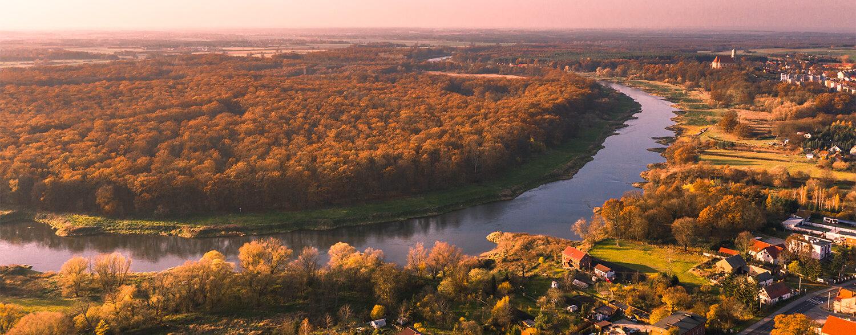 Lubiąż - widok na Szlak Odry